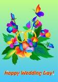 Mazzo di vettore di fiori luminosi illustrazione di stock