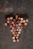Mazzo di vino Fotografia Stock Libera da Diritti