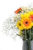 Mazzo e vaso del fiore immagini stock libere da diritti