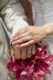 Mazzo ed anelli di Lilly del Calla Fotografia Stock