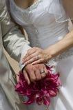 Mazzo ed anelli di Lilly del Calla Fotografie Stock Libere da Diritti