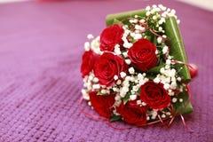 Mazzo elegante con le rose Immagini Stock Libere da Diritti