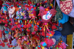 Mazzo fatto a mano alla plaza Fotografie Stock