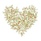 Mazzo floreale per la vostra progettazione, forma di amore del cuore Immagini Stock Libere da Diritti