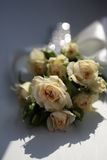 Mazzo fresco delle rose di tè Fotografia Stock