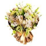 Mazzo fresco e fertile dei fiori variopinti, isolato su fondo bianco immagini stock libere da diritti
