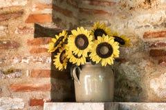 Mazzo giallo dei girasoli Fotografia Stock