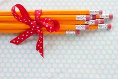 Mazzo giallo della matita Immagine Stock