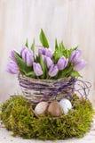 Mazzo lilla di tulipani Immagine Stock Libera da Diritti