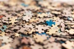 Mazzo non risolto di puzzle Fotografia Stock Libera da Diritti