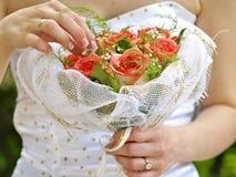 Mazzo nuziale del fiore Fotografia Stock