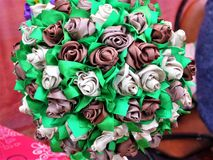 Mazzo originale dei fiori artificiali Fotografie Stock Libere da Diritti