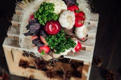 Mazzo originale delle verdure e della frutta Fotografia Stock Libera da Diritti