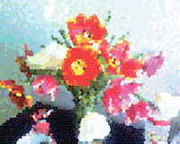 Mazzo pittoresco del tulipano illustrazione vettoriale