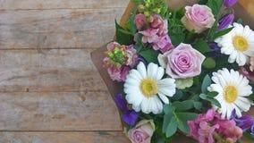 Mazzo porpora del fiore di tono Fotografia Stock