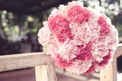 Mazzo rosa del garofano Fotografia Stock