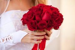 Mazzo rosso della Rosa Immagini Stock