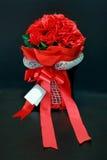 Mazzo rosso della Rosa Immagini Stock Libere da Diritti