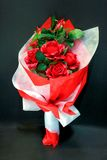 Mazzo rosso della Rosa Fotografie Stock