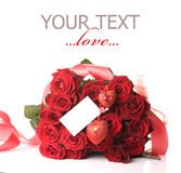 Mazzo rosso delle rose Immagini Stock Libere da Diritti
