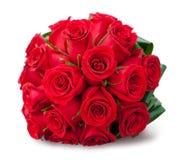 Mazzo rotondo delle rose rosse Immagini Stock Libere da Diritti