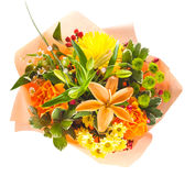 Mazzo variopinto dei fiori Immagini Stock