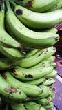 Mazzo verde della banana sull'Expo agricola filippina Fotografie Stock