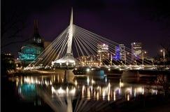 MB de Winnipeg del puente de Provencher fotos de archivo libres de regalías
