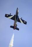 MB-339 of the italian acrobatic team Frecce Tricolori Royalty Free Stock Photo