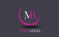 MB M B Letter Logo Design Photos libres de droits