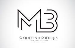 MB M B Letter Logo Design dans des couleurs noires Photos stock
