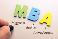 MBA royaltyfri fotografi