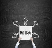 MBA concept Royalty Free Stock Photos