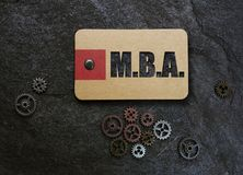 MBA and gears Royalty Free Stock Photography