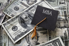 MBA grad cap Royalty Free Stock Photography