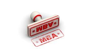 MBA Maître de la gestion Le timbre laisse une empreinte illustration de vecteur