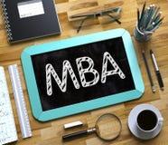 MBA manuscrit sur le petit tableau 3d Photographie stock libre de droits