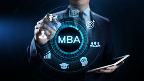 MBA Master of business administration Education concept. royalty free stock photography