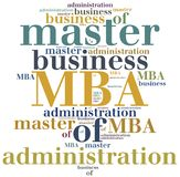 MBA. Master of business administration. Royalty Free Stock Image