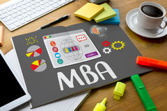MBA Master of Business Administration program MBA , Education ca Stock Image
