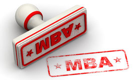 MBA. Master of Business Administration. Seal and imprint Royalty Free Stock Images