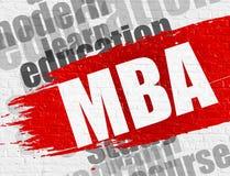 MBA op Bakstenen muur Royalty-vrije Stock Foto