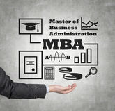 Mba scheme Royalty Free Stock Image