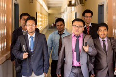 MBA ucznie Zdjęcia Stock