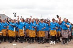 Mbabane, Swasiland, Zeremonie Umhlanga Reed Dance, j?hrlicher traditioneller nationaler Ritus, einer von acht Tagesfeier stockfoto