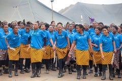 Mbabane, Swasiland, Zeremonie Umhlanga Reed Dance, j?hrlicher traditioneller nationaler Ritus, einer von acht Tagesfeier stockfotografie