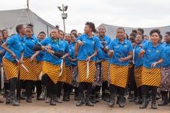 Mbabane, Swasiland, Zeremonie Umhlanga Reed Dance, j?hrlicher traditioneller nationaler Ritus, einer von acht Tagesfeier lizenzfreies stockfoto