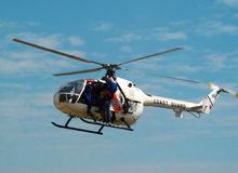 Mbb bo 105 helicopter Royalty Free Stock Photos