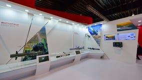 MBDA som ställer ut deras missilsystem på Singapore Airshow Arkivfoton