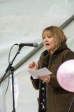 MBE di sig.ra L M Burr del consigliere tecnico - marzo anti--Fracking - Malton - segale fotografie stock libere da diritti